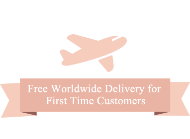 Free Worldwide Delivery for First Time Customers